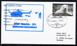 """ARCTIC, GERMANY,FS""""POLARSTERN """"ARK 2011,HELI-Flight """"WHALE-WATCHING"""",  Cachet + Sign,look Scan !!8.6-02 - Stamps"""