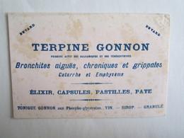 Publicité Buvard Buvards Terpine Gonnon élixir Capsules Pastilles - Chemist's