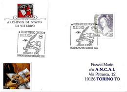 ITALIA - 2000 VITERBO Domenicarchivio Giubilare - Amanuense, Penna D'oca - Stamps