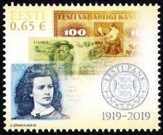 Estonia Estland Estonie 2019 (11) Bank Of Estonia - 100 Years - Banknotes - Estonia