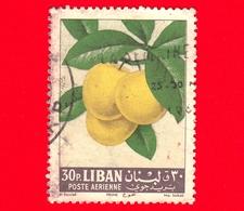 LIBANO - Usato - 1962 - Frutta - Susine - Prugne - Prune - Plums - 30 - P. Aerea - Libano