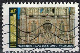 France 2019 Oblitéré Used Histoire De Styles Architecture Eglise Notre Dame Des Champs Avranches - Oblitérés