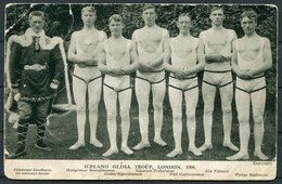 1908 Iceland Glima Troup, London Olympics Wrestling Postcard. Jóhannes Jósefsson - Wrestling