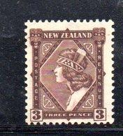 CI1034 - NUOVA ZELANDA 1936 , 3 P. Bruno  Yvert N. 218  Linguellato  * (2380A)  Multi NZstar - 1907-1947 Dominion