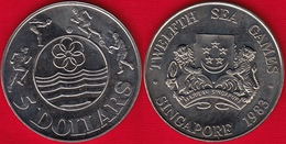 "Singapore 5 Dollars 1983 Km#25 ""12th SEA Games"" UNC - Singapur"