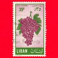 LIBANO - Usato - 1955 - Frutta - Uva Rossa - Grapes - 35 - P. Aerea - Libano
