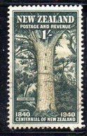 CI1038 - NUOVA ZELANDA 1940 , 1 Sh.  Yvert N. 255   Usato (2380A) - 1907-1947 Dominion