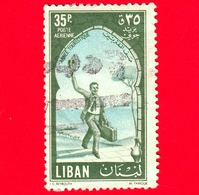 LIBANO - Usato - 1955 - Anno Turistico Internazionale - 35 - P. Aerea - Libano