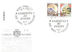 ITALIA - 1985 PARMA 250° Fondazione Del Quotidiano GAZZETTA DI PARMA - Stamps