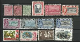 BAHAMAS COLONIES 1882 / 1963 - 14 Timbres  Tous Differents Lot 3 - Bahamas (1973-...)