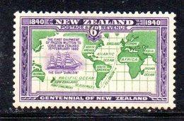 CI1040 - NUOVA ZELANDA 1940 , 6 P.  Yvert N. 251  *  Linguella (2380A) - Nuovi