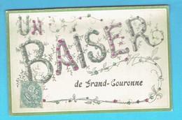 CPA Un Baiser De Grand Couronne - Paillettes 76 Seine Maritime - France