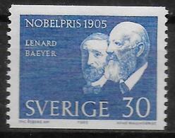 SUEDE  N° 529 * *  Prix Nobel Physique Lenard Chimie Von Baeyer - Chimie