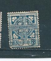 N° 45 Série Courante (Croix Celtique) Filigrane Se Timbre Irlande (1924) Oblitéré - 1922-37 Stato Libero D'Irlanda