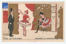 Jolie Chromo Dorée Gibert Clarey Coulisses Danseuse Opéra Ballet Faust étoile Pompier Tutu Victorian Trade Card A5-85 - Other