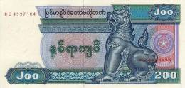 MYANMAR  P. 75a 200 K 1991 UNC - Myanmar