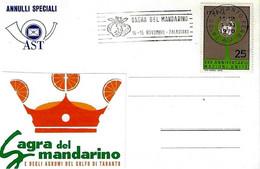 ITALIA - 1970 TARANTO Sagra Del Mandarino - Annullo A Targhetta - Vacanze & Turismo