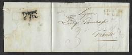 DA CAVALESE A TRENTO - 3.7.1848. - Italia