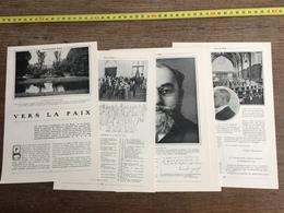 1907 JST VERS LA PAIX LA HAYE PALAIS DE BINNENHOF RIDDERZAAL - Alte Papiere