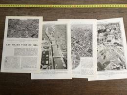 1907 JST VILLES VUES DU CIEL PARIS BALLON BORDEAUX ROME MADRID - Alte Papiere