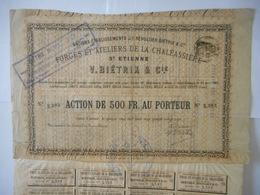 Forges Et Ateliers De La CHALEASSIERE   1895 SAINT ETIENNE - Actions & Titres
