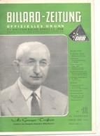 BILLARD - ZEITUNG Nr 12 De  1956 .(jm) - Sport