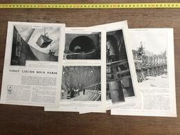 1907 JST VINGT LIEUES SOUS PARIS TRAVAUX METROPOLITAIN METRO - Collezioni