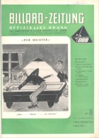 BILLARD - ZEITUNG Nr 8 De  1956 .(jm) - Sport