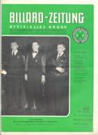 BILLARD - ZEITUNG Nr 11 De  1954 .(jm) - Sport