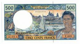 INSTITUT D'EMISSION D'OUTRE MER // Cinq Cent Francs // Signature Différente // UNC - Andere - Oceanië