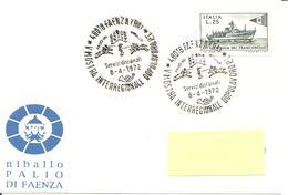 ITALIA - 1972 FAENZA (RA) Palio Del Niballo (giostra Dei Cavalieri) - Vacanze & Turismo