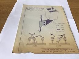 Disposition De Signalisation Nocturne De Position Des Interrupteurs Aérien Dessin - Electricity & Gas