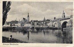 Kitzingen , Mainfranken - Stadtansicht Mit Brücke Und Fluss - Feldpost 1942 Von Würzburg - Kitzingen