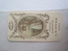 Carte Parfumée Parfum Lariette L T Piver Paris Mini Calendrier 1912 - Cartes Parfumées