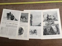 1907 JST LA VIE A 3000 METRES PIC QUAIRAT IZARD LAC ESPINGO - Alte Papiere