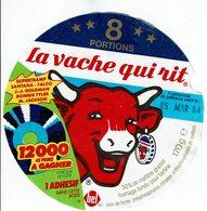 """Et. Fromage Fondu Pour Tartines """" LA VACHE QUI RIT """" 12.000 45 Tours à Gagner - Fromage"""
