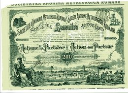 S.A. MÉTALLURGIQUE ROUMAINE; Anciennes Usines Lemaitre - Industrie