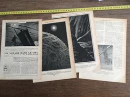 1907 JST UN VOYAGE DANS LE CIEL CAMILLE FLAMMARION ASTRONOME AU TELESCOPE - Alte Papiere