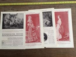 1907 JST WINTERHALTER PEINTRE DES ELEGANCES MONDAINES - Alte Papiere