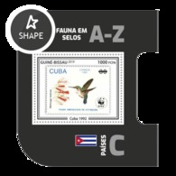 Guinea Bissau 2019, Stamp On Stamp, WWF, Hummingbird, BF - Stamps On Stamps