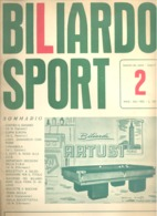 BILLARD - BILIARDO SPORT N° 2 De 1962.(jm) - Sport
