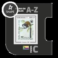 Guinea Bissau 2019, Stamp On Stamp, WWF, Lemur, BF - Stamps On Stamps