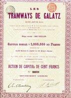 Roumanie: Les TRAMWAYS De GALATZ - Actions & Titres