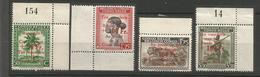 Congo Belge Belgisch Congo 1944 Cob 270 à 273  Croix Rouge Roode Kruis ** - Congo Belge