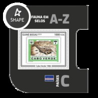 Guinea Bissau 2019, Stamp On Stamp, WWF, Lizard, BF - Stamps On Stamps
