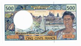 INSTITUT D'EMISSION D'OUTRE MER // Cinq Cent Francs // Signature Differente // SPL / AU - Autres - Océanie