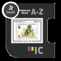 Guinea Bissau 2019, Stamp On Stamp, WWF, Monkey, BF - Stamps On Stamps