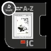Guinea Bissau 2019, Stamp On Stamp, WWF, Panda, BF - Stamps On Stamps