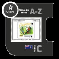 Guinea Bissau 2019, Stamp On Stamp, WWF, Parrot, BF - Stamps On Stamps