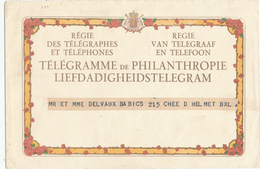 143/29 - Télégramme De LUXE Et Son Enveloppe - Cachet Arrivée SCHAEBEEK Sud TT 1937 - Telegraph